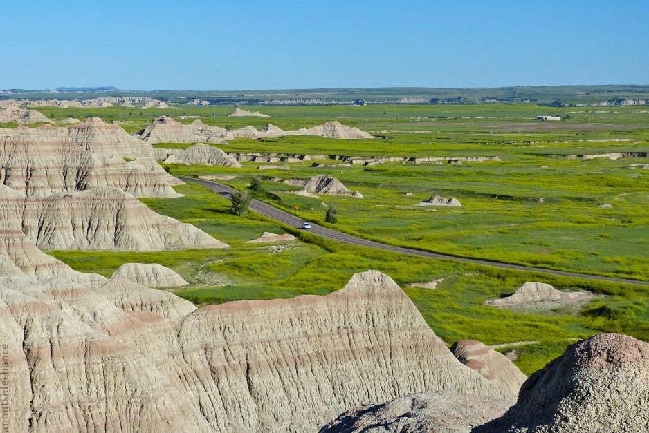 Badlands Scenic Loop Byway in Badlands National Park, South Dakota. June 19, 2014.