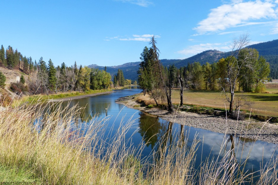 From Rock Creek north to Carmi, both the Kettle Valley Trail and BC Highway 33 stay close to the Kettle River.