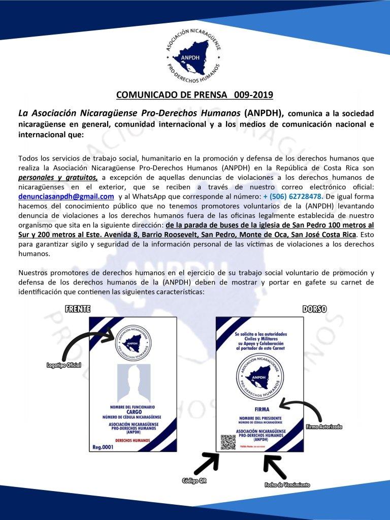 COMUNICADO DE PRENSA 009-2019 02