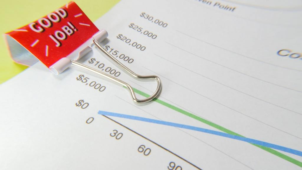 Grafico riporta l'andamento dei costi fissi e costi variabili dell'impresa