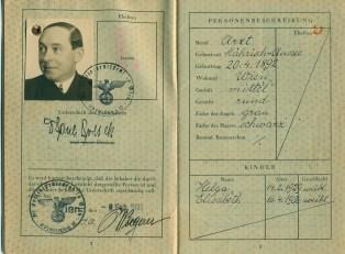 Passaporto di Paul Polak (Archivio di Urbisaglia)