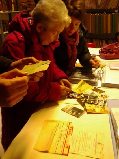 Helga Feldner e la nipote Laura visitano l'Archivio di Villa Giustiniani Bandini