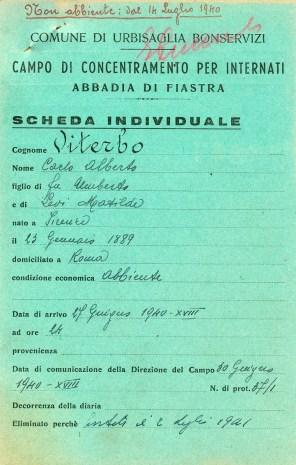 Scheda individuale di Carlo Alberto Viterbo
