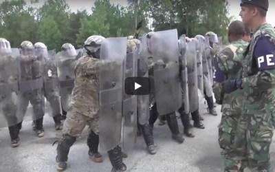 Polícia do Exército formação Army-USA