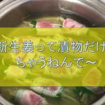 【簡単おいしい】新生姜の美肌レシピ〜湯がいたお汁で旨味たっぷりスープもできちゃう〜