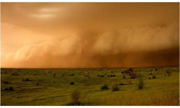 Arrivo di una tempesta nel Shael, durante la stagione dei monsoni (fonte: Françoise Guichard e Laurent Kergoat, CNRS)