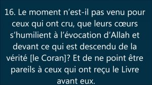 Sourate 57 -Le fer-