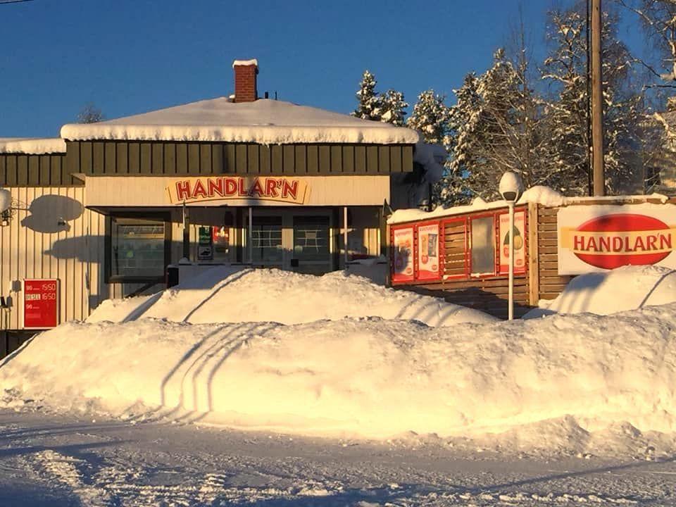 Vinter hos Servicepunkt Handlarn i Rötviken.