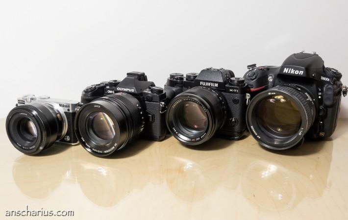 Nikon 1J5 - Olympus OM-D EM-1 - Fuji X-T1 - Nikon D800E