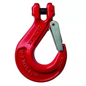 Clevis hook with safety device