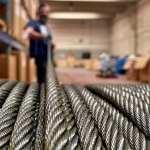 Spulen zum Konfektionieren von Stahldrahtseilen
