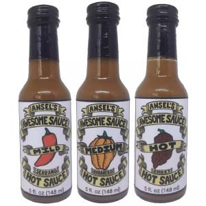 Original Gift Pack Mild Medium Hot Hand Craft Hot Sauce