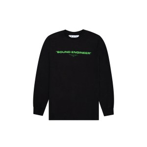 OFF-WHITE x Pioneer Console Long Sleeve Tee Black