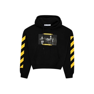 Off White carav paint hoodie front