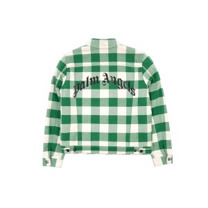 Palm Angels checkered jacket green back