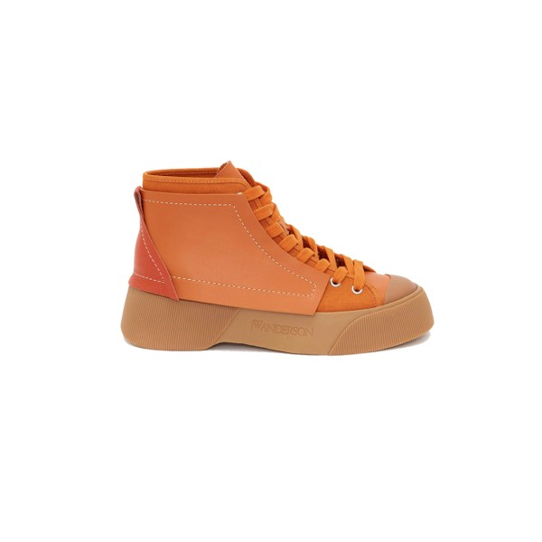 J.W Anderson Panelled Canvas High Top Sneakers