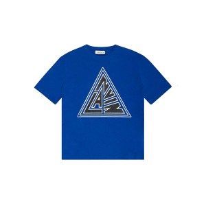 lanvin triangle blue tee front