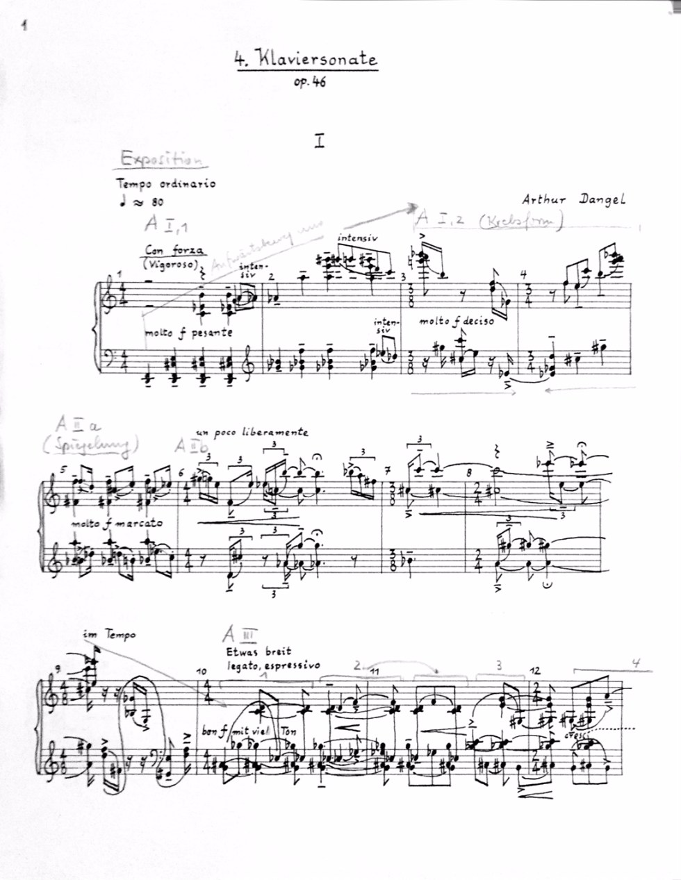ARTHUR DANGEL: Klaviersonate 4 / recording to follow