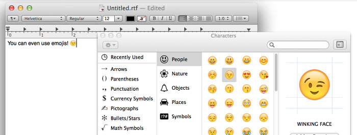 Mac Os X Type Insert Special Characters Keyboard Shortcut