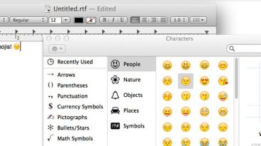special characters type instert mac os x