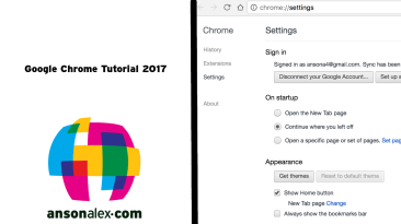 google chrome tutorial 2017