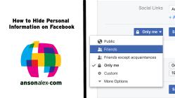 hide personal info facebook