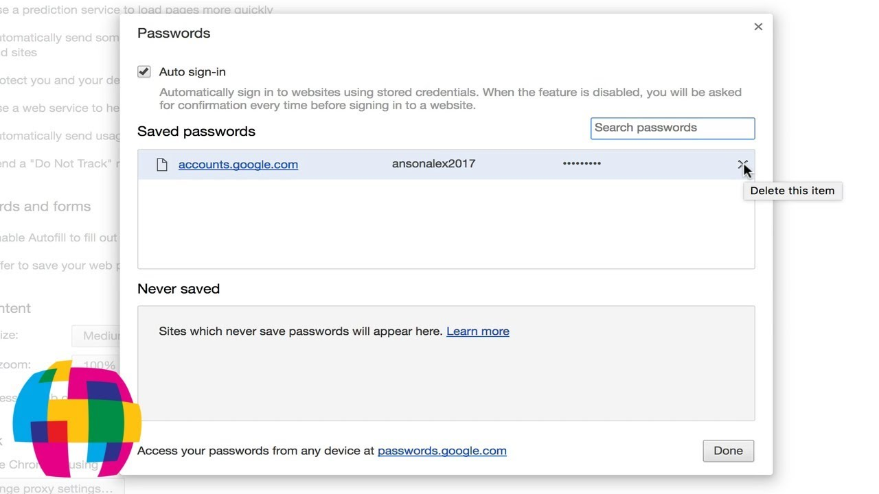 How to View and Manage Saved Passwords in Google Chrome