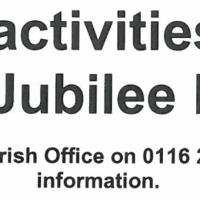 Jubilee Hall Activities 16/08/2016 onwards