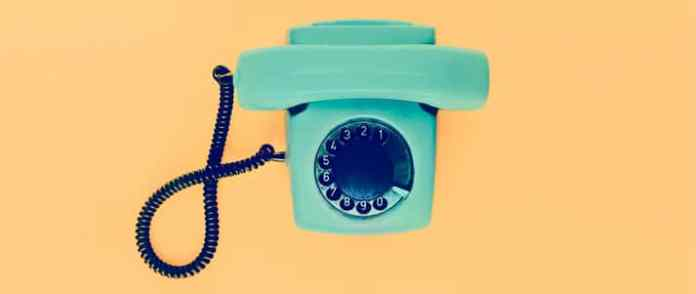 colourful retro phone