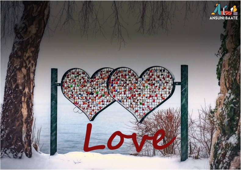 heart image with snow wallpaper image dowenload free