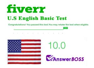 Fiverr U.S English Basic Test