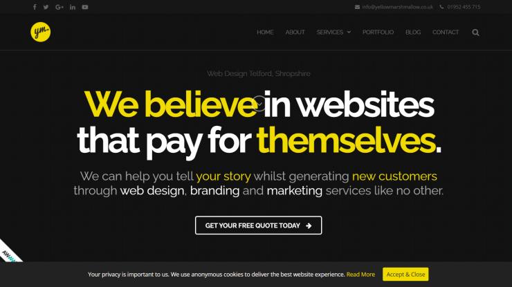 Example of dark mode Web Design Trends