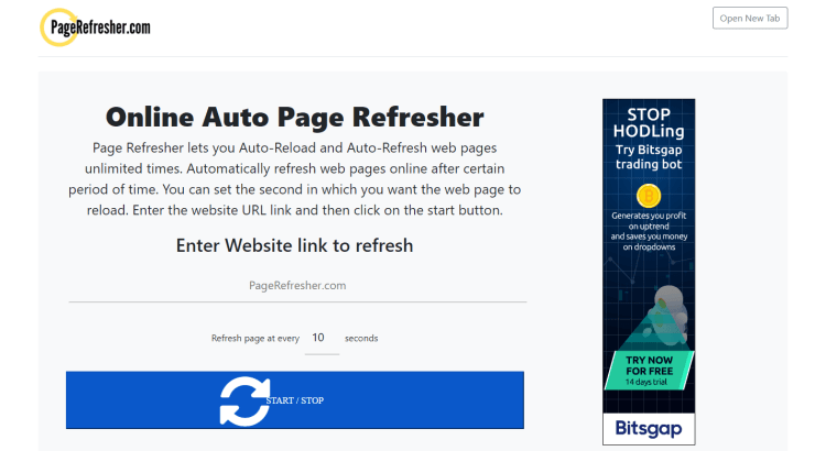 Pagerefresher.com is one perfect example of online tool that has automatic page refresher function