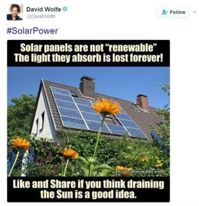 David Wolfe Confirmation Bias Solar Power