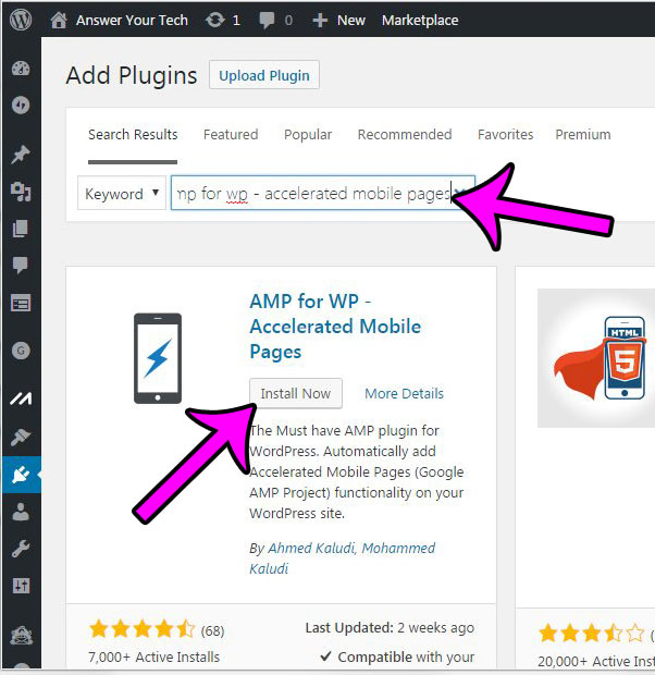 add the amp for wp plugin