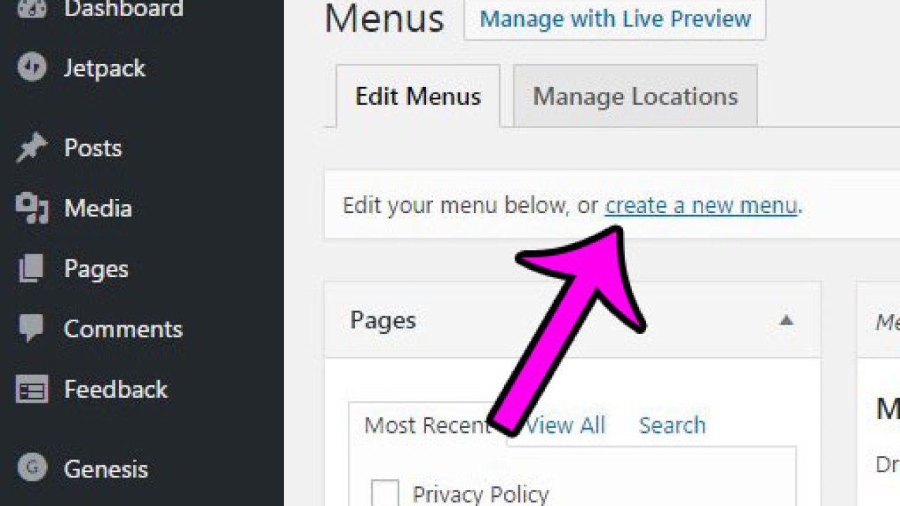 How to Create a New Menu in Wordpress 4 6 1 - Answer Your Tech