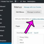 How to Create a New Menu in WordPress 4.6.1