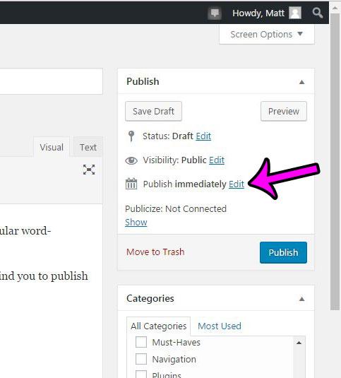 edit the publish time