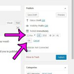 How to Schedule a Post in WordPress 4.6.1