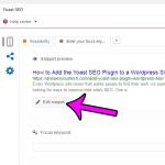 How to Add a Meta Description to a Post Using the Yoast SEO Plugin in WordPress