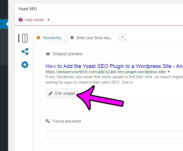 how to edit a post meta description in wordpress using the yoast seo plugin