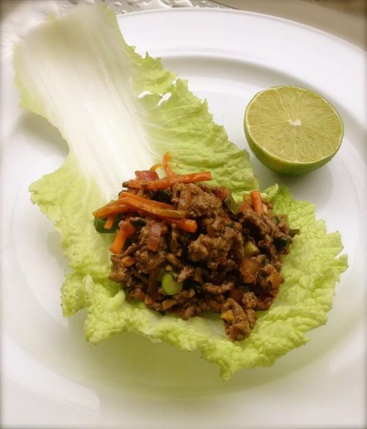 thai beef lettuce wrap paleo diet challenge day 30