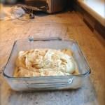 pear ginger upside-down cake batter