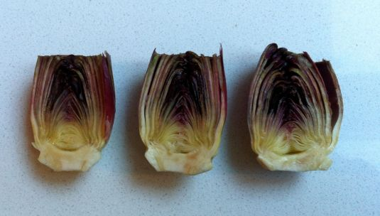 baby artichokes ready for the pan