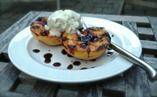 grilled peaches fig balsamic glaze