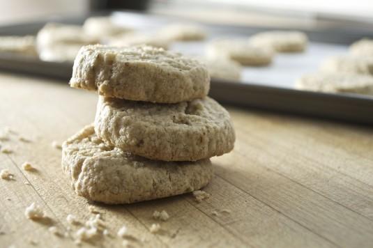 oat cardamom shortbread stack