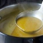 butternut squash apple soup final in pot