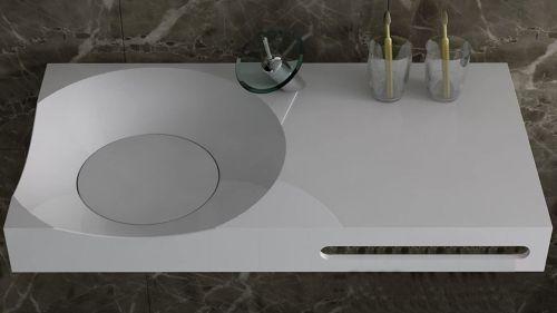 Corian Modern Banyo Lavabosu ve Tezgahı