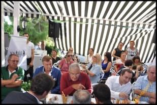 Talya Cafe Bistro- Nuri Alço, Fidan İlteray, Antalya TV, Muhabir Rüya Kürümoğlu (112)