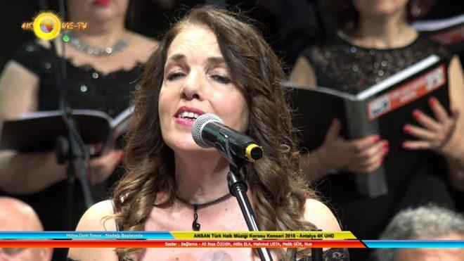 Hülya Ümit Tosun – Sisdağı Başlarında – ANSAN Türk Halk Müziği Korosu Konseri 2018 – Antalya 4K UHD